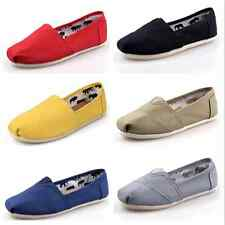 Fashion Womens Ladies Casual Canvas Flats Slip On Loafers Ballet Shoes Moccasins
