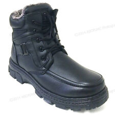 New Men's Winter Boots Black Ankle Fashion Fur Full Lined Zipper Warm Sizes:7-13