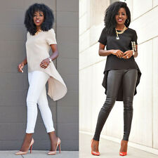Size 6-26 Ladies Summer Loose Casual Short Sleeve Sexy Shirt Tops Blouse Tee Top