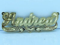PERSONALIZED  14K GP 3D DOUBLE PLATED SCRIPT NAME PLATE NECKLACE GIFT Lex2
