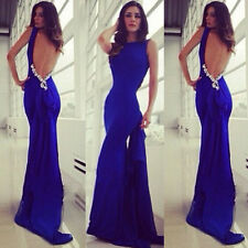 Women Long Maxi Bridesmaid Formal Evening Cocktail Prom Party Ball Gown Dress