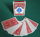 2 DECKS Bicycle STANDARD RED BACK-BLANK FACE gaff magic playing cards