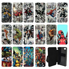 DC Marvel superhero comic book flip wallet cas de couverture pour Apple iPhone N ° 5
