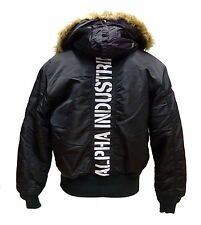 ALPHA INDUSTRIES Jacke 45P Hooded Custom | schwarz / reflekt (113145) CWU