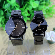 Fashion Women Men Watches Analog Quartz Movement Stainless Steel Wrist Watch