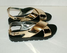Electric Karma Gold Sandal Size 9 or 10 - NEW