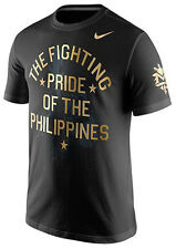 NIKE MANNY PACQUIAO Fighting Pride of Philippines Mens Dri-Fit Black T-Shirt