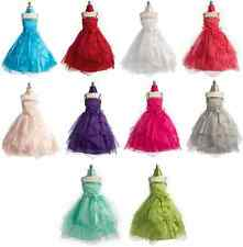 Long Wedding Pageant Bridesmaid Princess Ball Gown Dance Party Flower Girl Dress