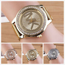 Women Fashion Stainless Steel Band crystal Wrist Watches Quartz Watch Bracelet