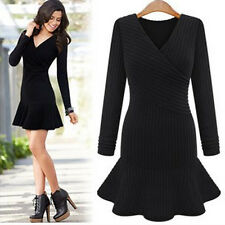 Fashion Women Bandage Bodycon Long Sleeve Evening Sexy Cocktail Sweater Dress