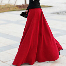 2015 Autumn Knitting Fashion Vintage Casual Sun Long Maxi Skirts For Womens