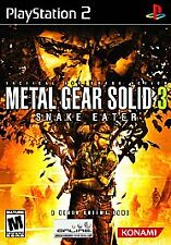 Metal Gear Solid 3 Snake Eater for PS2 Playstation 2 Case, disc, manual