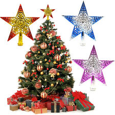 "Christmas Decoration 8"" Gold XMAS Tree Topper Star Christmas Tree Ornament Decor"