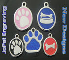 Deluxe Pet ID Tag Dog Kitten Puppy Cat Name Tags Personalised Engraved