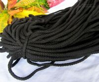 Rope 7mm diameter soft natural Black - 700gm - Used In Pull String Waists