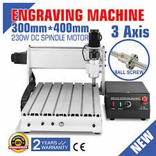 230W CNC 3040T-DQ Router Milling Engraving Machine Wood PVC PCB'S Carving