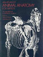 An Atlas of Animal Anatomy for Artists by W. Ellenberger (Paperback, 1966)