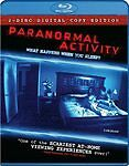 Paranormal Activity (Blu-ray Disc, 2009, 2-Disc Set,VG Free shipping/trk!