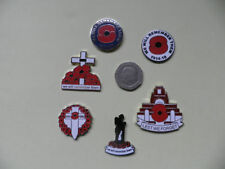 Poppy Rememberance Pin Badges, WW1 Centenary, x6 options.