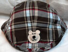 GYMBOREE NEWSBOY GOLF CAP HAT w/ BEAR 3 4 5 6 7 8 9 10 YEARs BOYS BROWN PLAID
