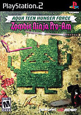 Aqua Teen Hunger Force Zombie Ninja Pro-Am for PS2 PlayStation 2 FACTORY SEALED