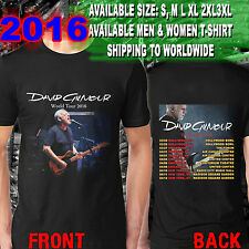 David Gilmour Rattle That Lock Tour Dates 2016 Tee T - Shirt S-3XL Size AR01
