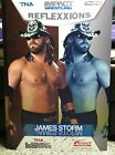 James Storm Autograph 2012 TNA Lockdown Talent Placard Tristar Poster 24x36 nxt