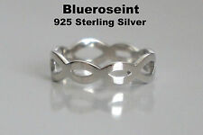 925 Sterling Silver Women's Weave Infinity Ring Band 5.5mm -Sizes 6-9
