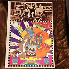 Rare Vintage 1970 PETER MAX Psychedelic Op Pop Abstract Fantasy Art Poster Print