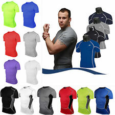 Mens Compression Base Layer T-Shirt Short Sleeve Top Tight Thermal Sports Wear