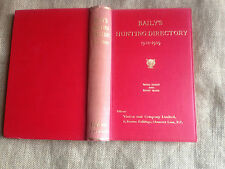 Baily's Hunting Directory 1938-1939 with Diary and 3 Hunt Maps.  42nd. Year