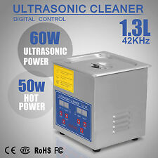 1.3L NETTOYEUR À ULTRASONS CLEANING BRACKET JEWELRY CLEANING LARGE TIMER