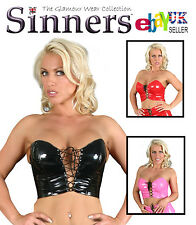 Sexy PVC Bustier Choice of Colours by Sinners / private party / Fetish  (S1407)