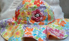 NEW GYMBOREE HAT SUNHAT w/ ROSE 0 3 6 9 12 MONTHS GIRLS BABY INFANT FLOWERS PINK