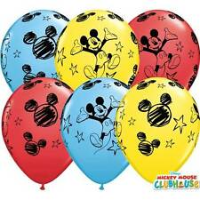 "Qualatex 11"" imprimé ballons disney licence mickey mouse genuine"