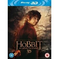 The Hobbit - An Unexpected Journey (3D Blu-ray, 2013, 4-Disc Set, Box Set)