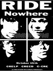 Shoegaze: Ride 'Nowhere' Poster