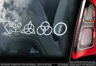 Led Zeppelin 'Zoso Symbols' - Car Window Sticker - Rock Sign NEW - TYP2