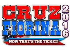 Ted Cruz for President 2016 Carly Fiorina for 'VP' Vice President T-Shirts Sm-XL