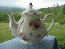 Beautiful Large Porcelain China Floral Antique Rose Teapot Free Shipping Cream