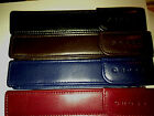 Cross Pen Deep Blue Leather Flip Top Case for any of the Cross models NEW NICE