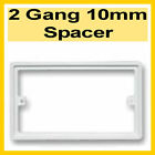 2 Gang 10mm -Plastic Electric Double Socket Square Patress Back Box spacer - P02