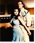 """ROGER MOORE signed 10x8 photo """"James Bond"""" and """"The Saint"""""""