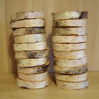 "25 Silver Birch Bark Wood Log Slices.Decorative Display Logs.4-5 ""diam x 2""thick"