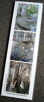 New bookmark w images of antique hand-painted glass