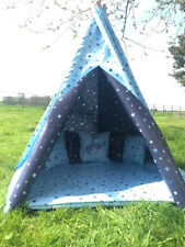 WATERPROOF STARS TEEPEE. KIDS CHILDRENS WIGWAM, INDOOR/ OUTDOOR GARDEN PLAY TENT