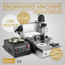 4 ASSI MACCHINA PER INCISIONI CNC 3020T CUTTER T-SCREW ENGRAVER EXCELLENT