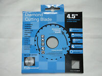 "4.5"" 115MM LONG LASTING DIAMOND SAW CUTTING DISC BLADE 22.2 CENTRE BORE BNIP"
