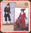 Captain Hook MAD Hatter Costume PATTERN Simplicity 2333 Mens Pirate Hat Jacket