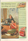 """1939 Coca-Cola ad , coke ad Good Housekeeping-""""At College""""-/316"""